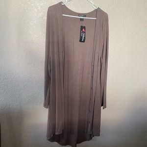 NWT Brown duster or sweater dress size 3x